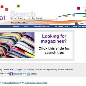 LINKcat website homepage