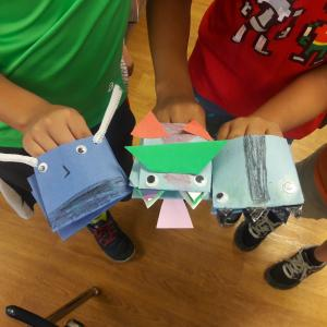 hand puppet projects inspired by Beekle, the unimaginary friend