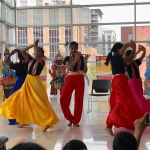 performers at Dashavatar: An Indian Mythology of Evolution