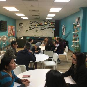 interview circles at Centro Hispano