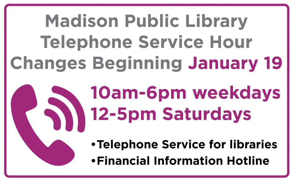 Phone Service Hours Change