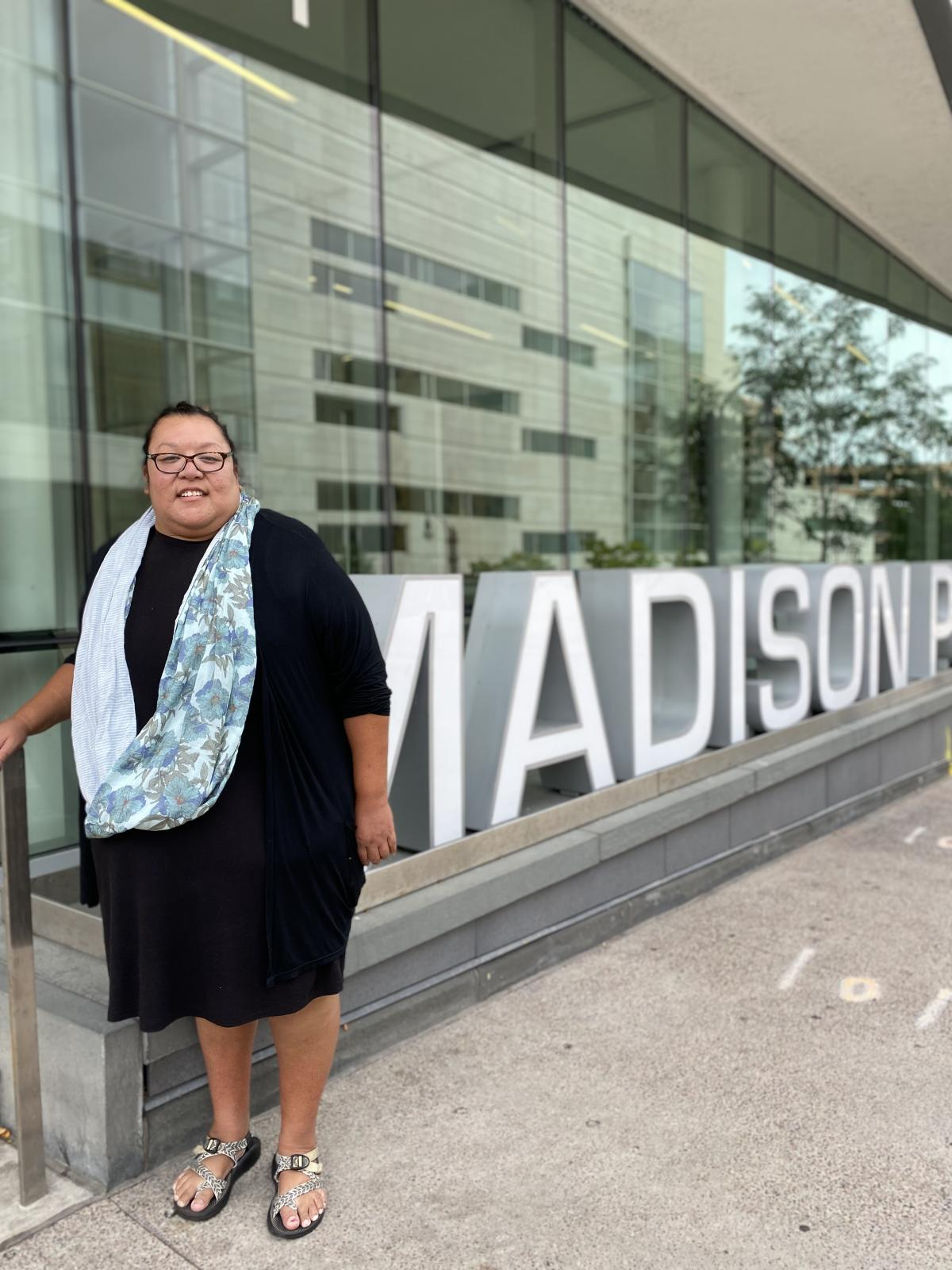 Andi Cloud is Madison Public Library's first Native American Storyteller in Residence
