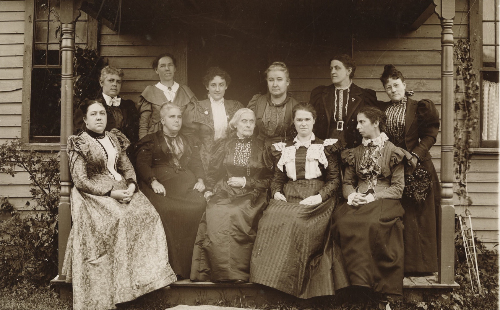 Susan B. Anthony and well-known Suffragettes