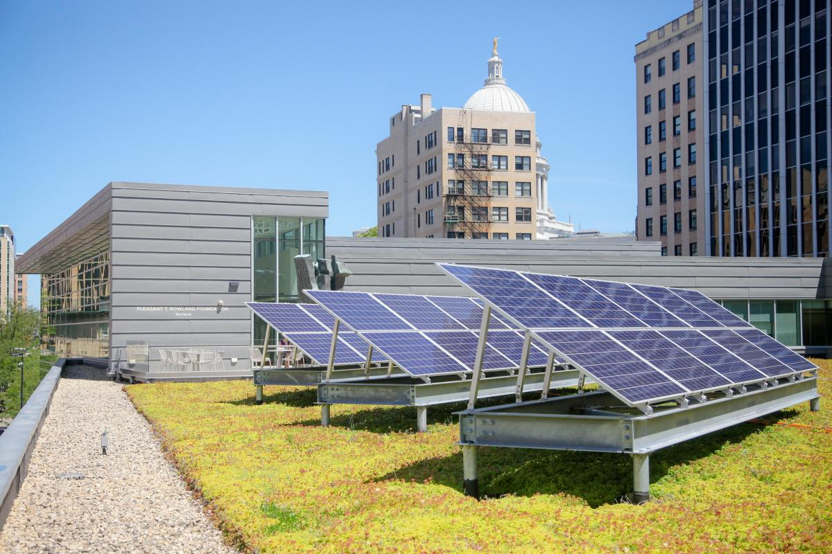 Green roof at Central Library