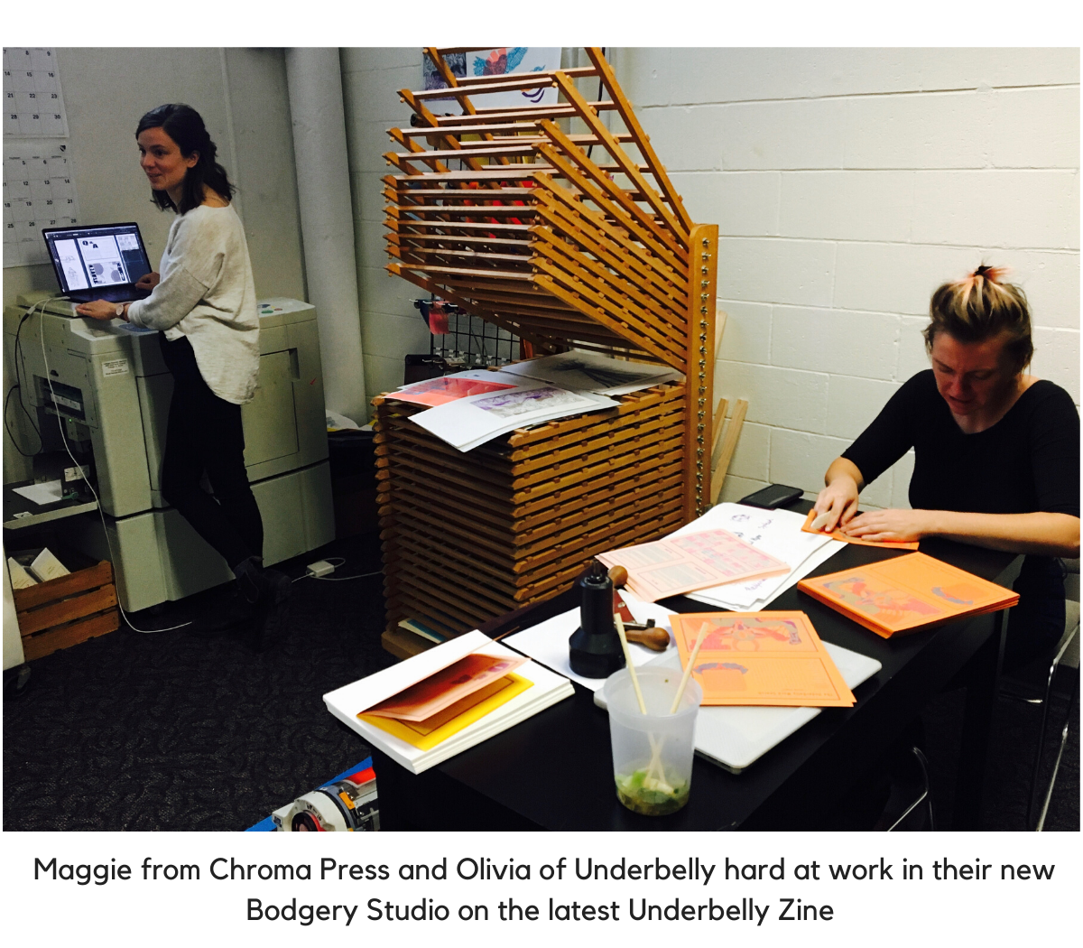 Chroma Press hard at work at the Bodgery