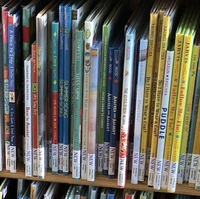 Spines of new picture books