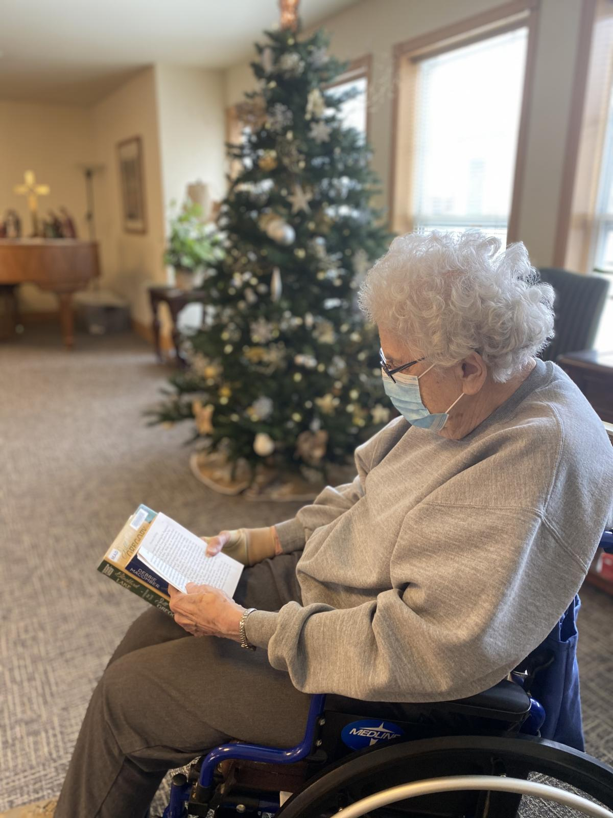 Home Service Impact Story: A resident at Oak Park facility enjoys a home service delivery