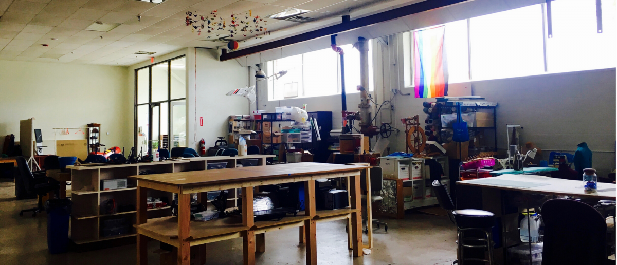 Panorama of new Bodgery Space