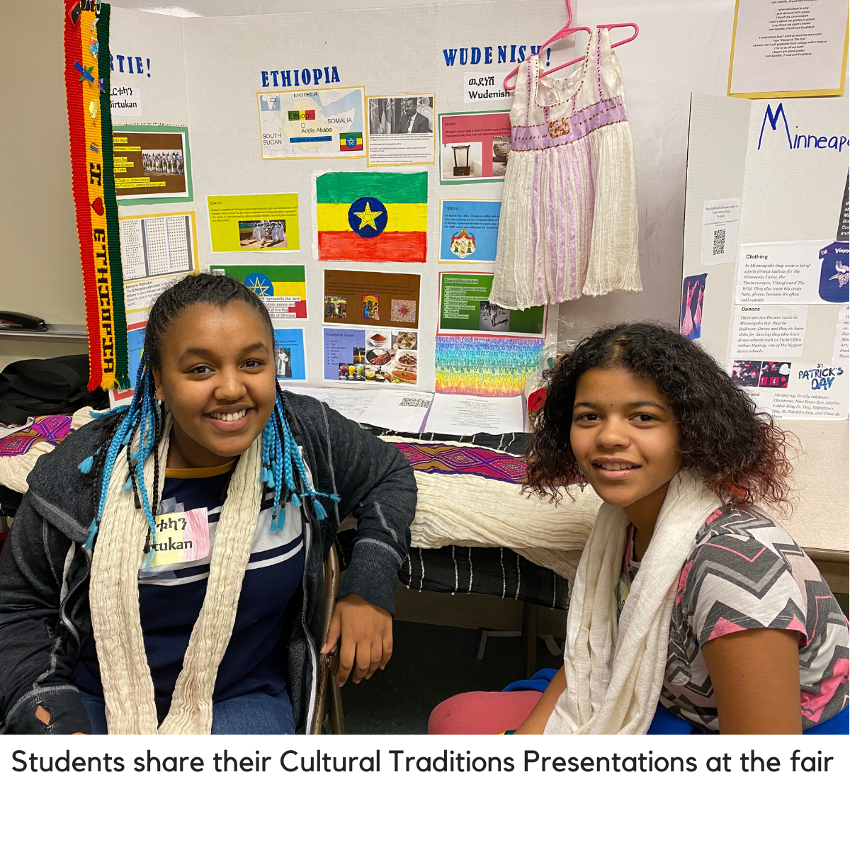 Students share their cultural traditions at the fair