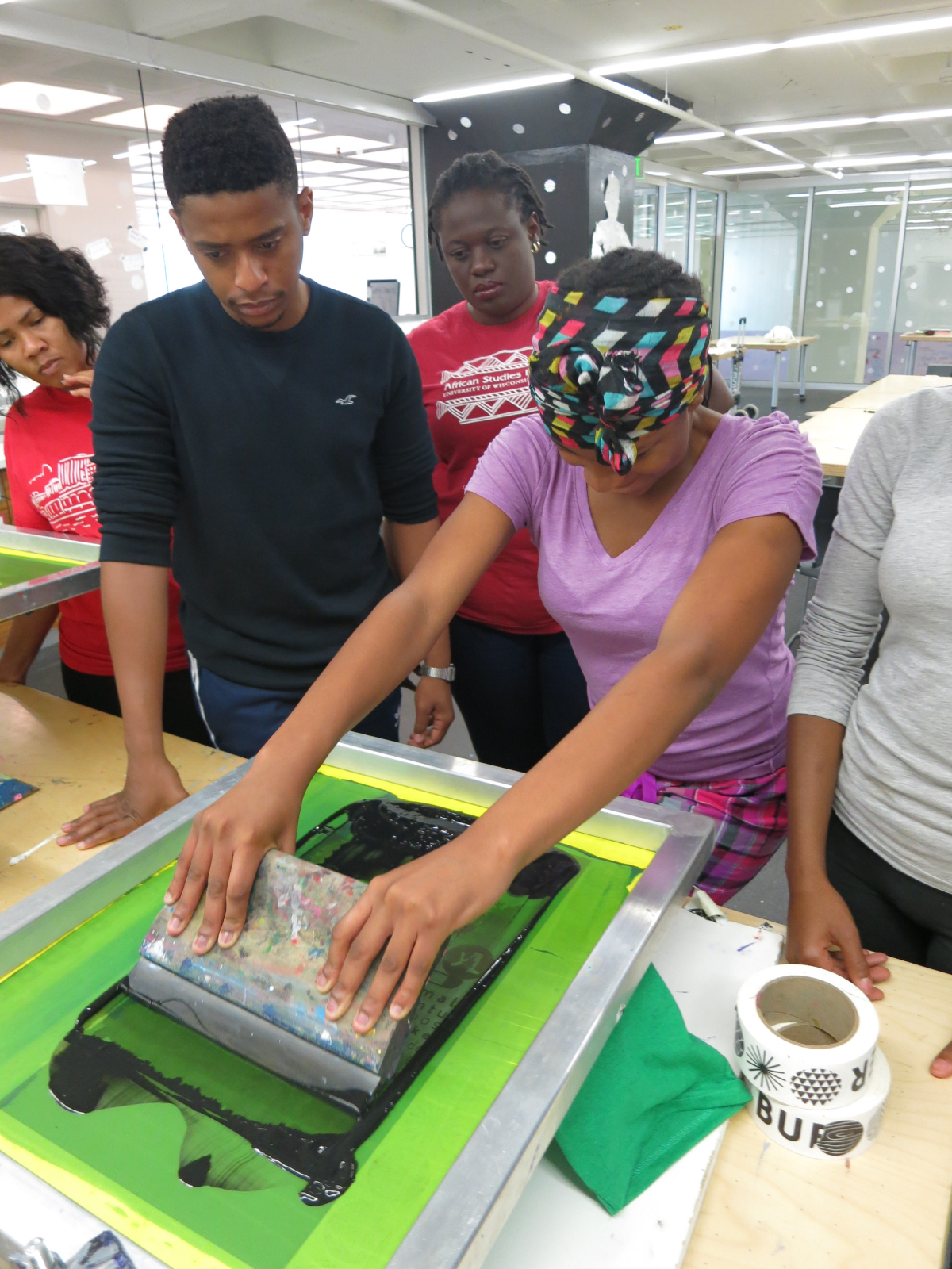 screenprinting at YALI