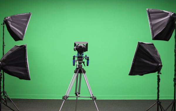 green screen in the Media Lab