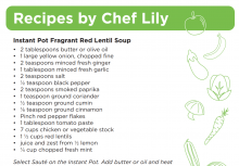 Chef Lily Red Lentil Soup Recipe