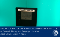 Three libraries will serve as drop-off locations for absentee ballots