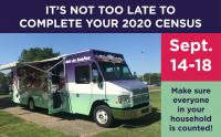Take the 2020 Census at Dream Bus Stops from Sept 14-18