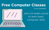 DANEnet offers free computer classes to learn basic computer skills