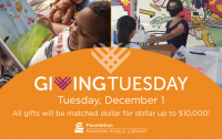 Support Madison Public Library with a donation to Madison Public Library Foundation this Giving Tuesday