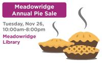 Meadowridge Annual Pie Sale