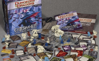 Dungeons and Dragons game cards and figurines