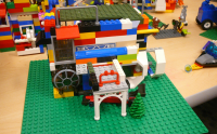 Lego creation by participants in a library Lego club