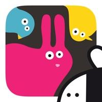 pink rabbit, blue bird and yellow chick on a black background