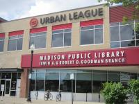 front of Goodman South Madison Library